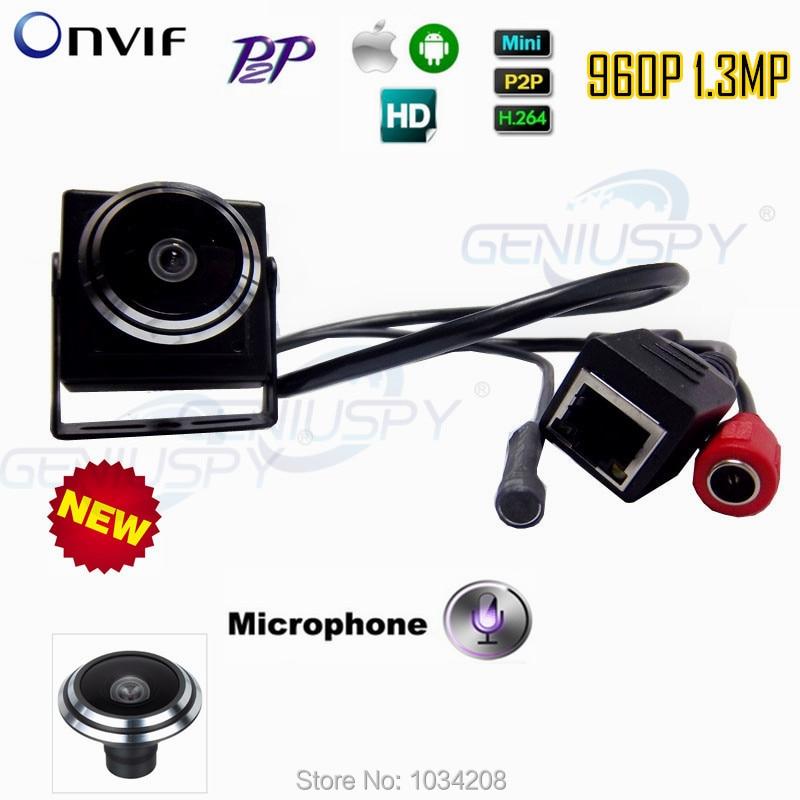 Surveillance Audio Video Camera Mini 960P IP Network Wide Angle Cctv Camera P2P Onvif Plug and Play With 1.78mm Fisheye Lens