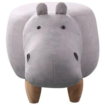 Banco de cambio de zapatos taburete americano de almacenamiento de madera maciza taburete creativo sofá Banco hipopótamo zapatos taburete Animal ganado taburete Otomano
