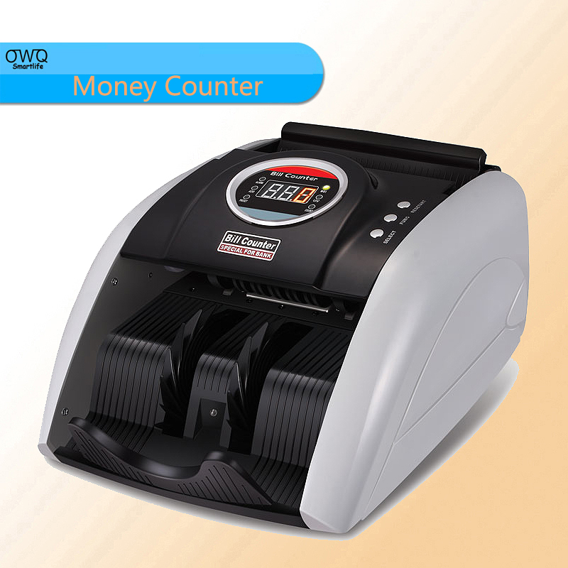 Hot sale 110V / 220V Multi-Currency Compatible Bill Counter Cash Counting Machine EURO US DOLLAR etc. Money Counter
