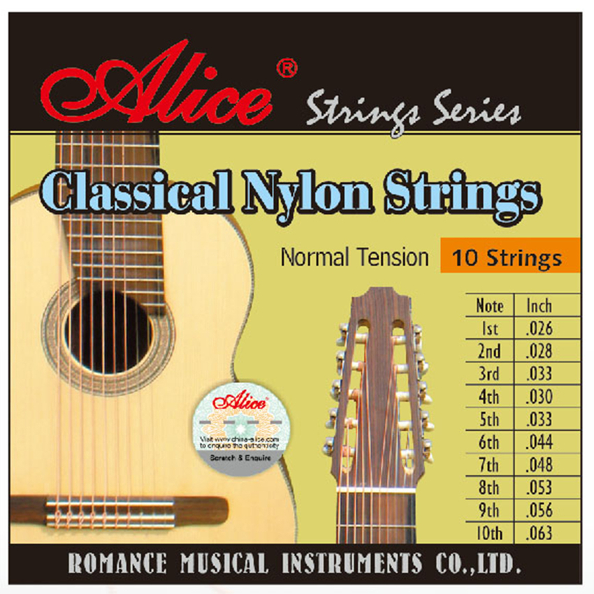 buy high quality classical guitar strings 10 string clear nylon coated copper. Black Bedroom Furniture Sets. Home Design Ideas