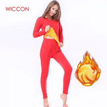 Plus Size3XL Winter Thermal Underwear Sets Women Seamless Pant And Top Suit Warm Especially Female Velvet Thick Women's Intimate