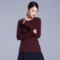 100% кашемир Для женщин свитера и пуловеры с длинными рукавами Вязание O шеи Трикотаж Для женщин s Джемперы весенние топы Тянуть Роковой