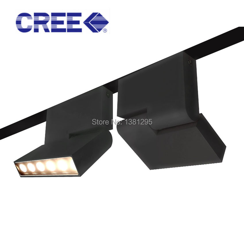 rotated track lighting led track light for home office kitchen rail spot light ceiling mounted. Black Bedroom Furniture Sets. Home Design Ideas