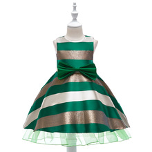 цена на 2019 Summer Striped Princess Dress Costume Kids Dress For Girls Party Tutu Girl Dress