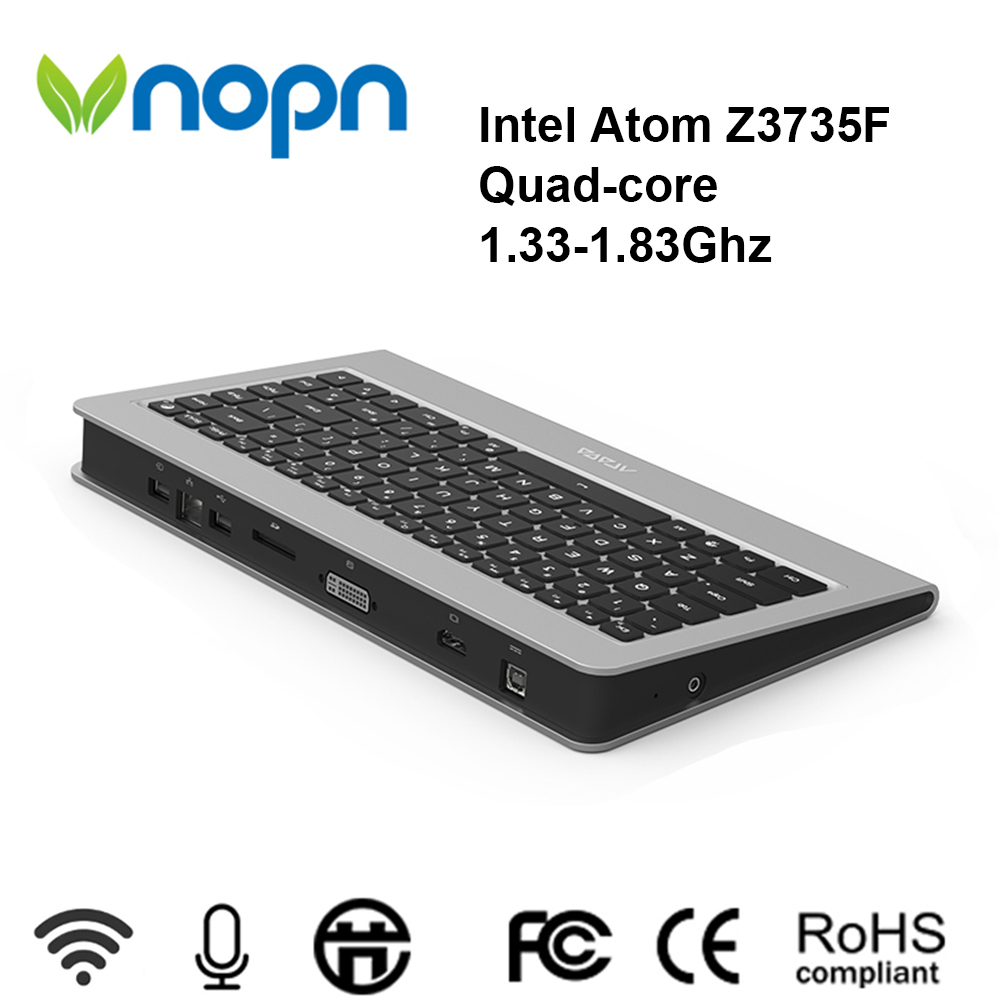 Vnopn Intel Atom Z3735F Quad-core 86 touches clavier PC 2GB RAM 64GB SSD Windows 10 Pro OS HD-MI affichage ordinateurs de bureau