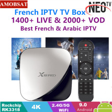 X88 pro Android 9.0 TV Box 4G 64G+1 Year NEO French IPTV Subscription 4K HDR Set Top USB 3.0 Support 3D Movie Ott