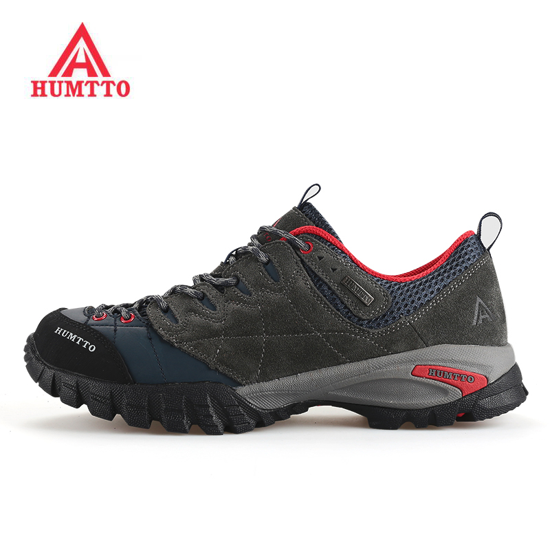 HUMTTO Men's Leather Outdoor Trekking Hiking Shoes Sneakers For Men Sport Wearable Climbing Mountain Shoes Man EUR 39-44#  zimber zm 10983