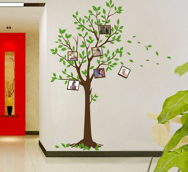 Free Shiping Diy Photo Tree Sticker Background Wall Room Decor 60 90 Cm Vinyl