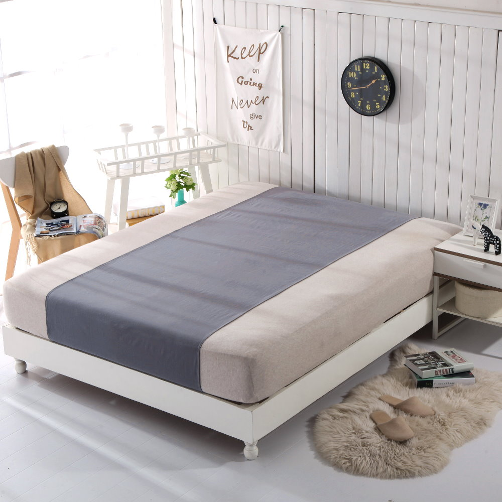 Grounded Half Bed Sheet Gray Color 90*270cm EMF Protection For Health, Better Sleep Earthing Bed Sheet