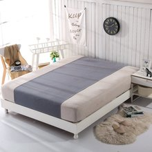 Grounded Half bed sheet Gray color 90*270cm EMF protection for health, better sleep Earthing