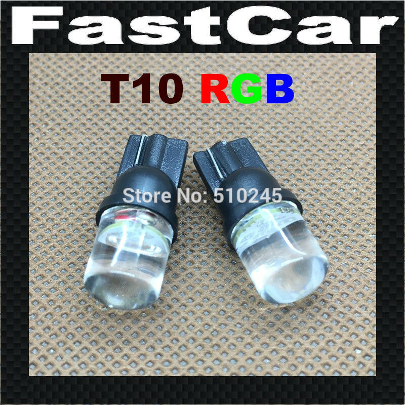 10X 12V Car styling led nonpolarity T10 158 168 501 LED Side 194 W5W Car Auto Light lamp Wedge RGB styling bulb