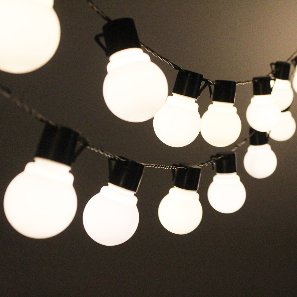 10M 38 LED String Lights Outdoor Garlands Christmas Decoration Globe Festoon Light Bulbs Chain LED Decorative 220 110V Wedding