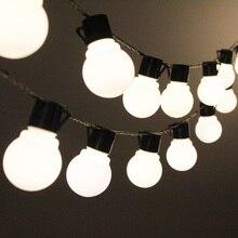 Guirlande lumineuse dextérieur, 38 LED globes pour la décoration de noël, chaîne à ampoules décoratives LED, mariage 220 110V