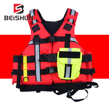 CE Certification Custom Swimming Boating Drifting Life Vest Water Sports Man Rescue Jacket Polyester Adult Life Vest Jacket