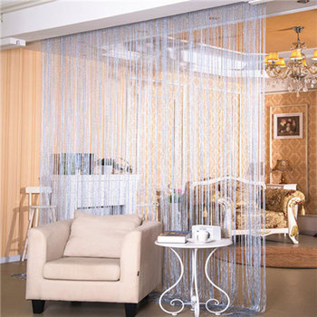 2*1M Window Door curtains for living room Tassel Line String Panel Living Room Home Decoration tulle Curtain Divider Valance 1