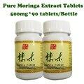 Moringa листьев экстракт, порошок таблетки, 90 шт./лот, здравоохранение лучший веса продукта увеличение веса
