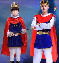Детский Костюм Короля принца для мальчиков карнавальный костюм