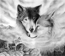 Weiß Wolf paar 5d Diy Diamant Malerei Tier Diamant Stickerei Diamant Mosaik Malerei kreuzstich Malerei Strass