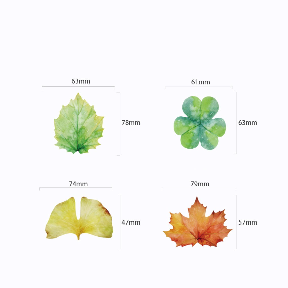 40 pcs/Lot Leaf sticky note Mini post sticker for diary agenda memo Office accessories School supplies Stationery FM112
