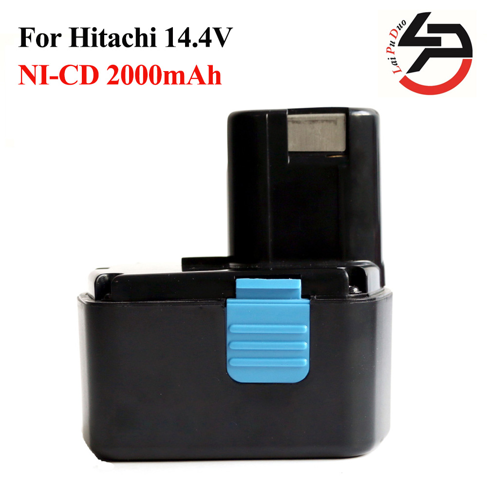 Power Tool Battery for Hitachi 14.4V 2000mAh NI-CD Rechargeable for DS14DVF3 EB1414S EB1412S, EB1414, EB1414L,, CJ14DL, DH14DL for bosch 24v 3000mah power tool battery ni cd 52324b baccs24v gbh 24v gbh24vf gcm24v gkg24v gks24v gli24v gmc24v gsa24v gsa24ve