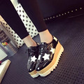 Fashion Star Woman Shoes PU Rubber Black Silver Casual Shoes 4 Style Spring Autumn