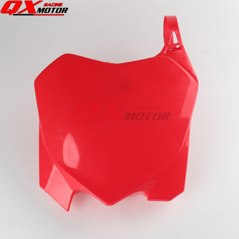 Plastic Front Number Plates Name Plate red fit Honda CRF CRF250R 10-13 CRF450R 09-12 Off road Racing Motocross no name 10