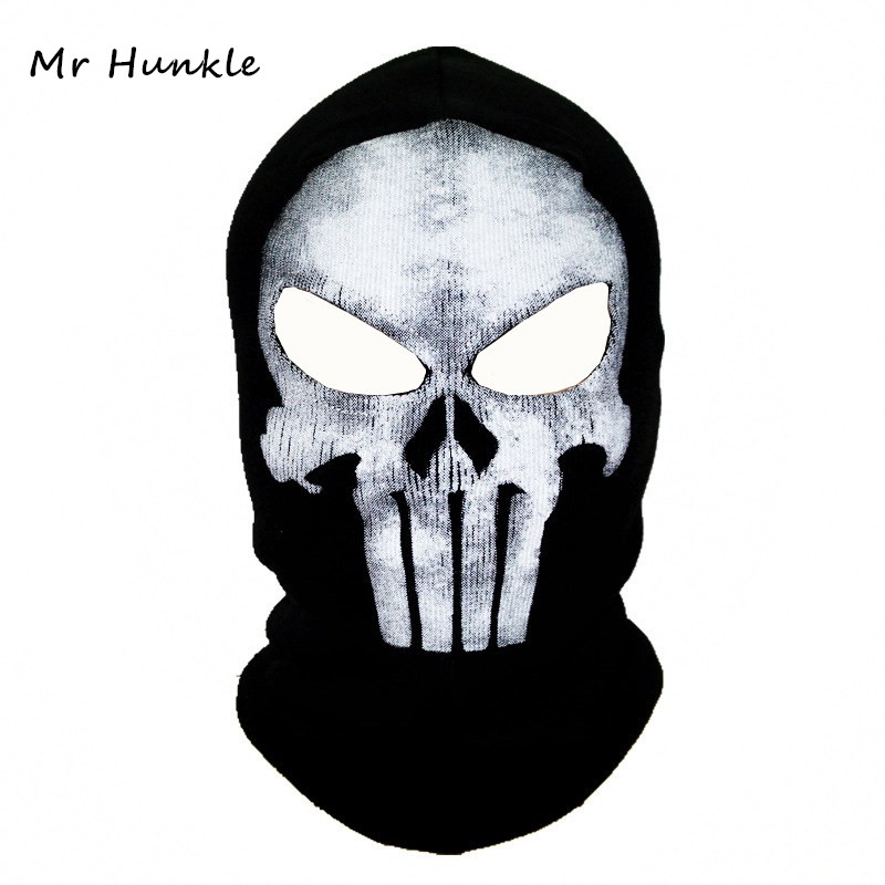 Black Mask Balaclava Beanies Hats Men Ghost Skull Full Face Warmly Mask Hood Beanie Ggorros Hombre Casquette Bbalaclava protective outdoor war game military skull half face shield mask black