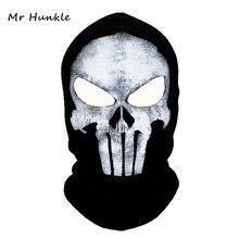 winter Punisher mask balaclava beanies hats men ghost skul full face ski mask sport training hood beanie,gorros hombre casquette