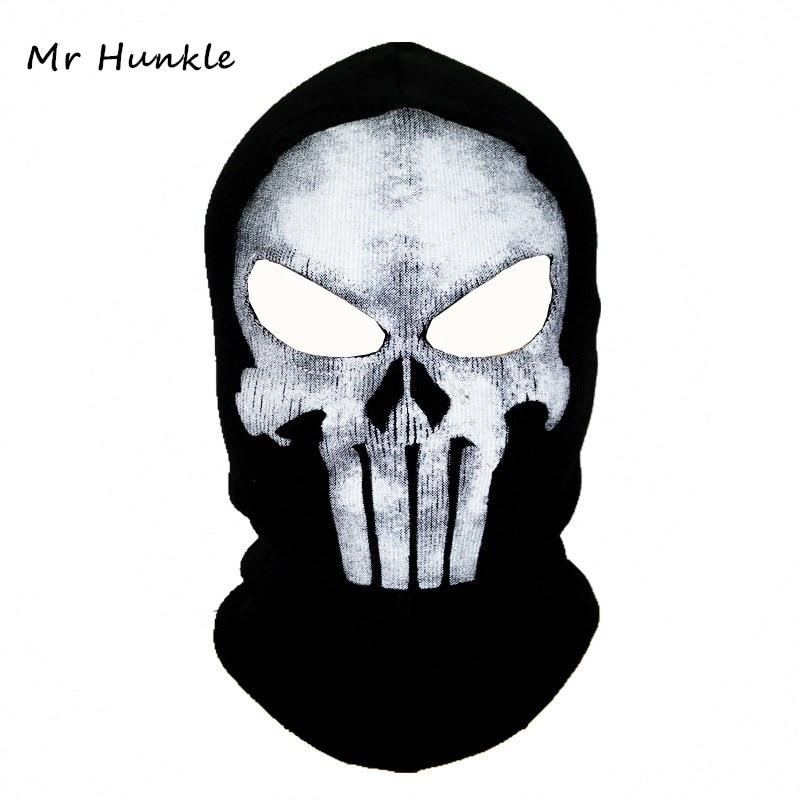 Black Mask Balaclava Beanies Hats Men Ghost Skull Full Face Warmly Mask Hood Beanie Ggorros Hombre Casquette Bbalaclava(China)