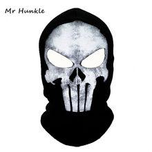 Pasamontañas con máscara negra para Hombre, gorros de calavera fantasma, mascarilla de cara completa, gorrito, gorros, gorro, Bbalaclava