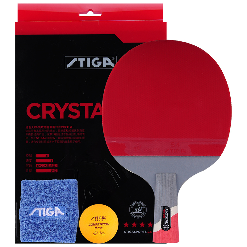 2019 Genuine Stiga Pro Crystal Quality 4 Stars Table Tennis Racket