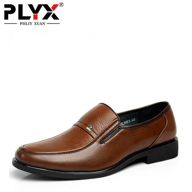 British Fashion 2020 Business Mens Leather Brown Shoes Oxfords For Men Footwear Flats Pointed Toe Official Dress Shoes