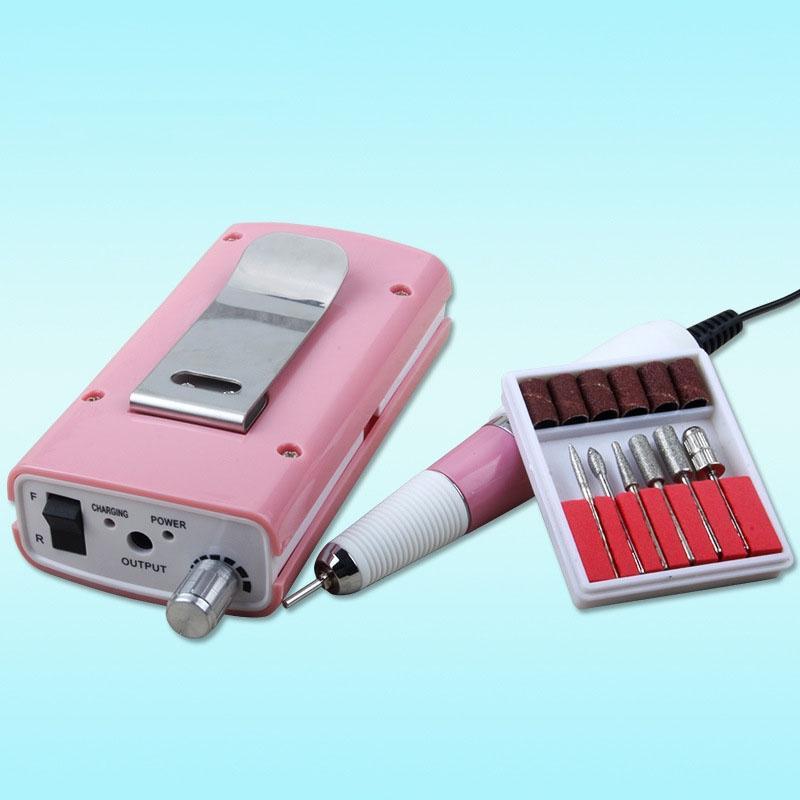 все цены на Nail Art Equipment 18W 30,000RPM Professional Portable Electric Nail Drill Machine Kit Nail File Drill Manicure Pedicure Set онлайн