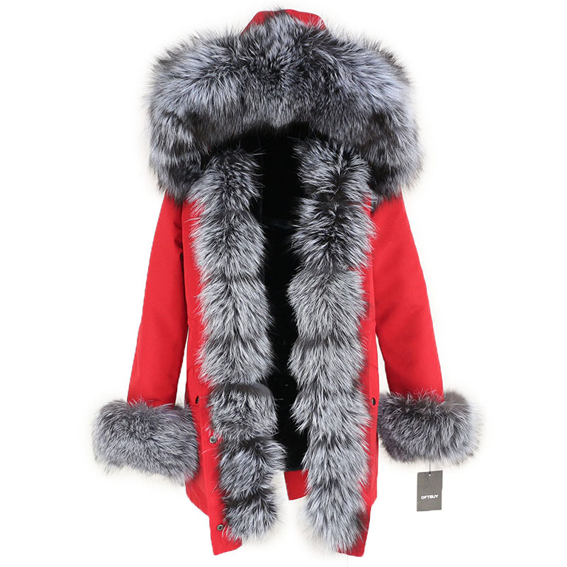 OFTBUY Waterproof Long Parka Winter Jacket Women Real Fur Coat Natural Fox Fur Collar Hood Thick Warm Streetwear Detachable New 111