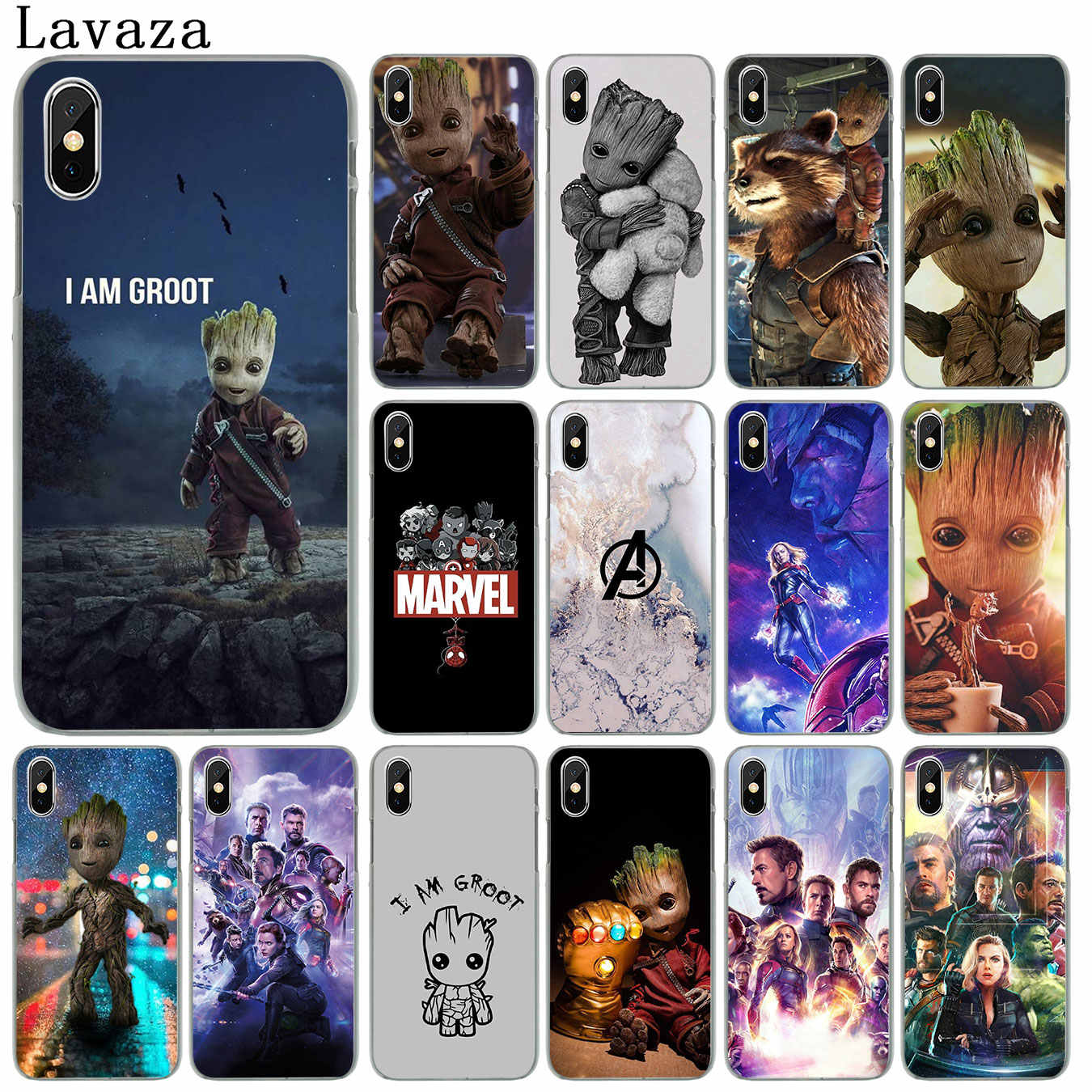 Capa para iphone xr x xs 11 pro max 10 7 8 6 s 5 5S se capa de telefone guardiões do para galaxy marvel avengers endgame thanos
