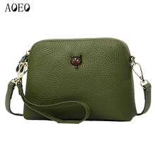 AOEO Mini Messenger Bags For Women Functional Real Genuine Leather Lady Handbag Female Luxury Fox Summer Shoulder Bag 2 Belt