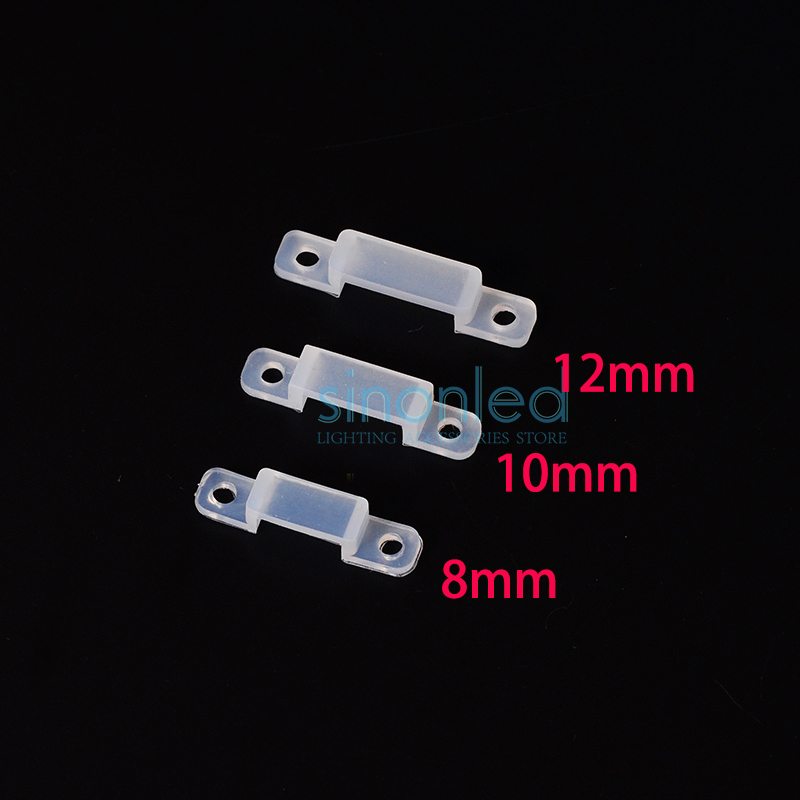 50-1000 Pcs 8mm 10mm 12mm Silicon Clip For Fixing 3528 5050 LED Strip Light LED Connector IP67 Waterproof Tube