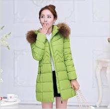 Autumn and winter new women in the long paragraph thickening cotton fashion Korean version of large