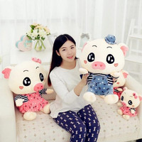 40CM One Piece Kawaii PP Cotton Stuffed Pig With Clothes Soft Plush Toys Lovely Pig Dolls Birthday Gifts Toys For Children