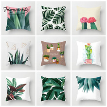 Fuwatacchi Tropical Plant Cushion Cover Cactus Flowers Printed Decoration Polyester Throw Pillow Home Sofa Pillowcases цены