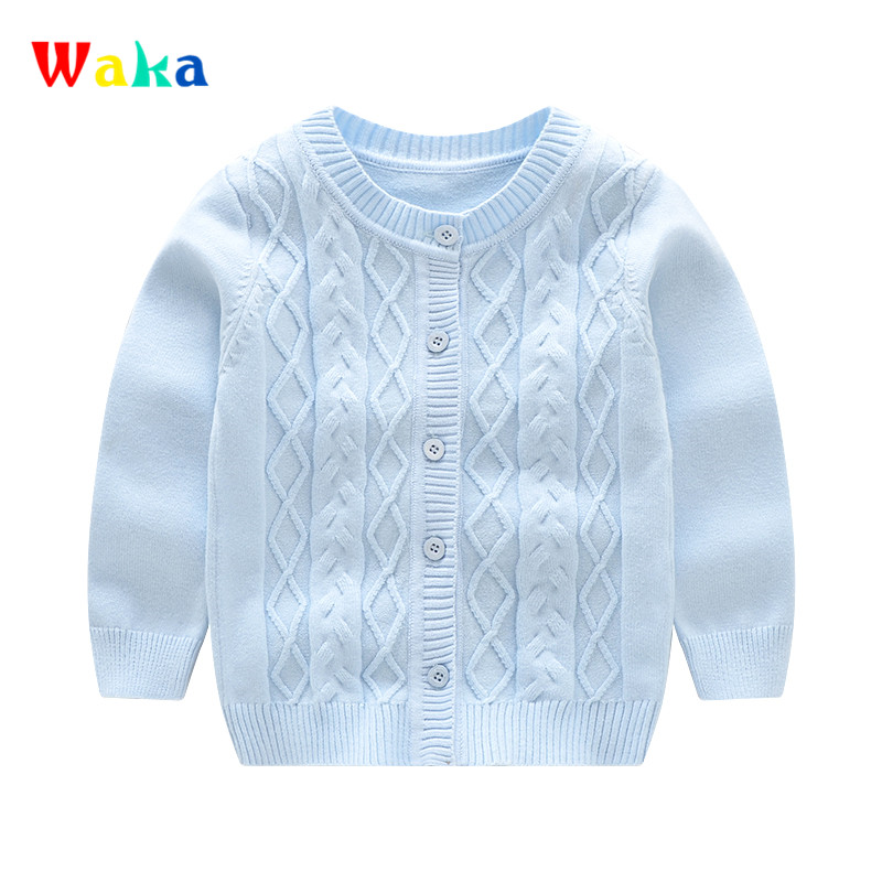 Fashion Baby Boys Sweater Long Sleeve O-Neck Baby Clothes Cotton Solid Girls Sweater Spring Autumn Baby Boys Clothing 2017