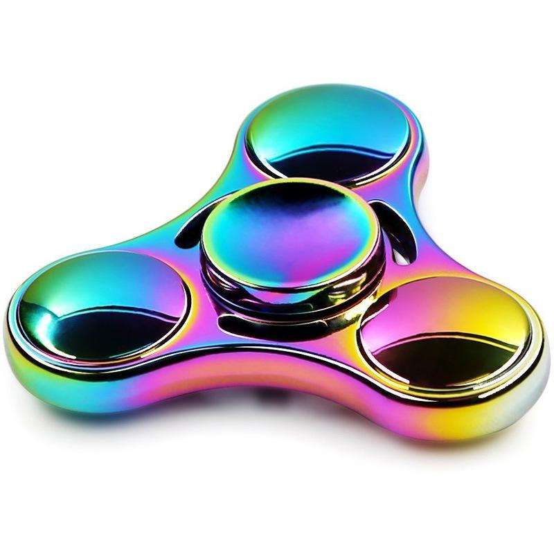 Hot Colorful Rainbow Fidget Spinner Spinner Metal Hand Spinner For Autism Rotation Anti Stress Toys for Children(China)