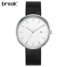 2016 BREAK top marque de luxe bracelet en cuir de mode de causalité robe d'affaires quartz montres creative cadeau montre pour hommes femmes