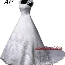 Robe-De-Mariage Wedding-Dresses Online-Shop Bridal-Gown ANGELSBRIDEP Applique Romantic