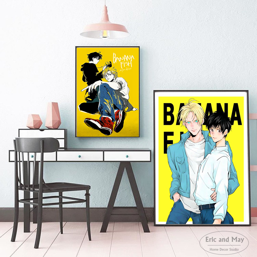 Cartoon Banana Fish Japanese Anime Posters And Prints Wall Art Canvas Painting For Living Room Decoration Home Decor Unframed in Painting Calligraphy from Home Garden