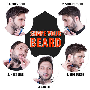 Image 5 - Hot Sale 1 Pcs Symmetry Trimming Beard Shaper Styling Shaping Template Comb Barber Tool NShopping