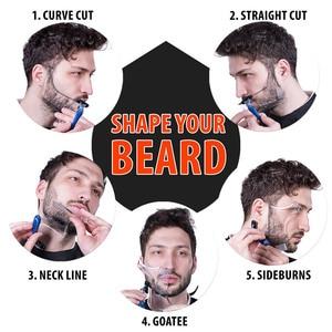 Image 5 - Venta caliente 1 piezas simetría barba de corte Shaper estilo de plantilla peine Barbero herramienta NShopping