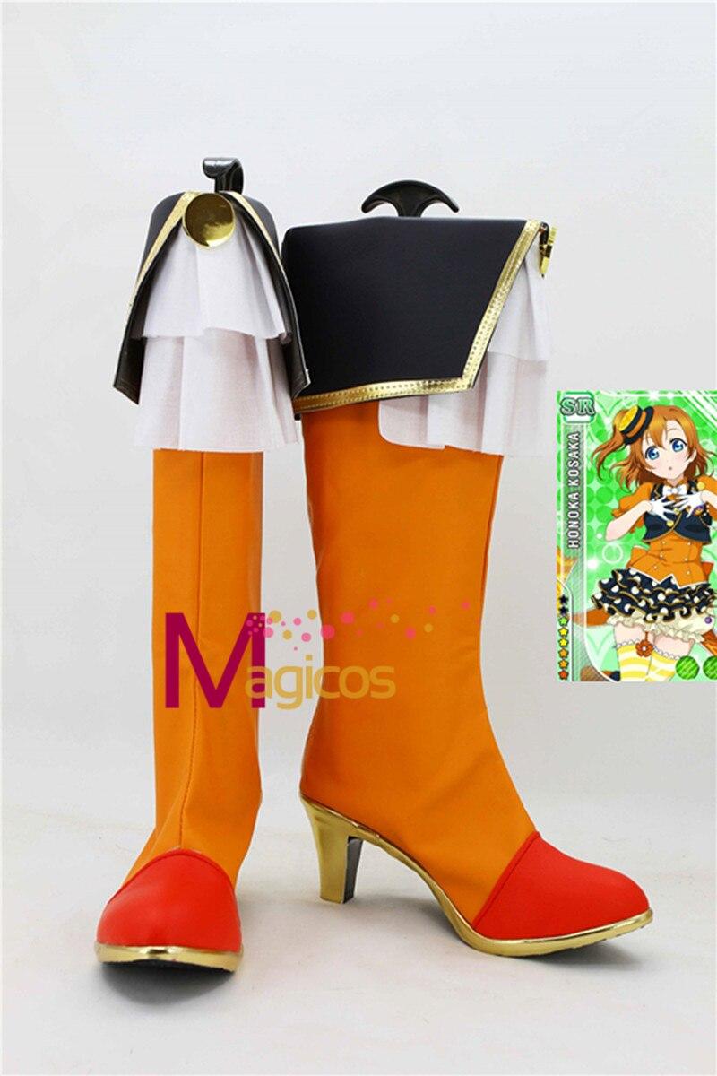 font b Anime b font LoveLive Kousaka Honoka Fruitfredsh Orange Boots font b Cosplay b