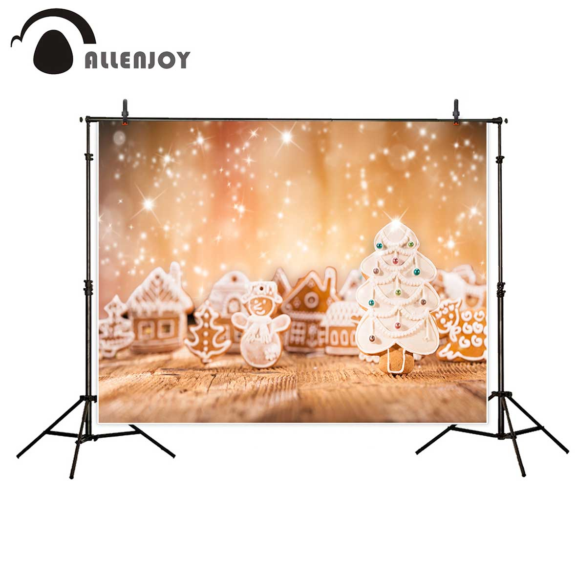 Allenjoy photography background Houses snowman elk Christmas tree patterns gingerbread glitter Bokeh backdrop Photo studio allenjoy photography background blue red abstract christmas background golden stars glitter bokeh lights backdrop photo studio