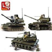 Sluban 9800 258 pçs exército militar k9 tanque construção figura brinquedos presentes educacionais hobbies para crianças compatível com lego|hobbys for children|toys educational|sluban army -